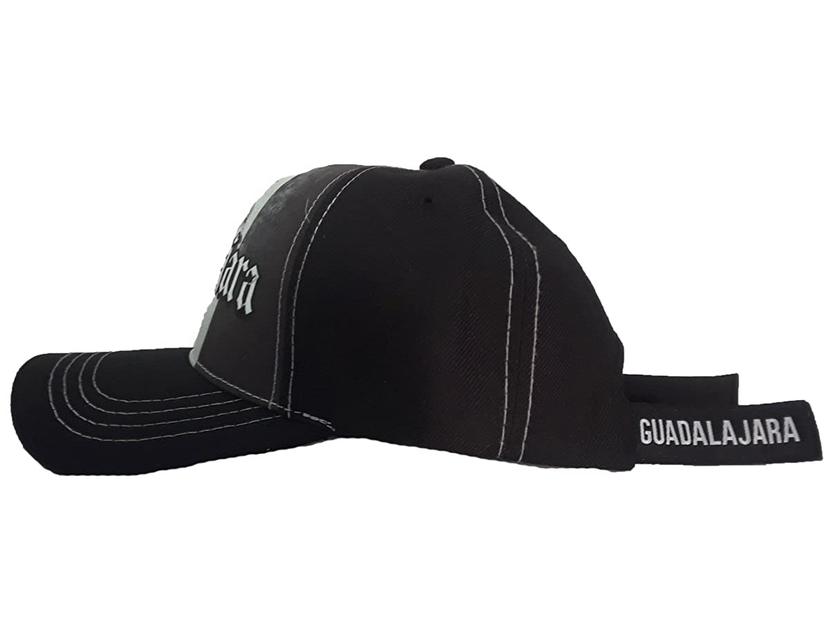 El General Gorra Charra Guadalajara ID 226 GOX2 Black and White at Amazon  Men s Clothing store  bbcd28a33da