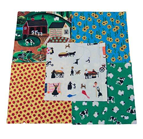 (Lancaster Charm Pack - DIE Cut - Quilting Fabrics - Quilt Charm Pack - Charm Packs for Quilting - Fabric Charm Packs - Precut Fabric - Quilting Fabric )