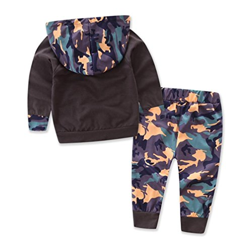 Gotd Toddler Newborn Baby Girls Boys Camouflage Hoodie+ Pant Set Leggings 2 Piece Outfits Clothes Winter Clothing (12 Months, Camouflage)