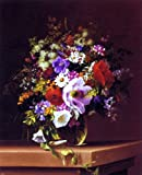 Art Oyster Adelheid Dietrich Wildflowers in a Glass Vase - 16.1'' x 20.1'' Premium Archival Print