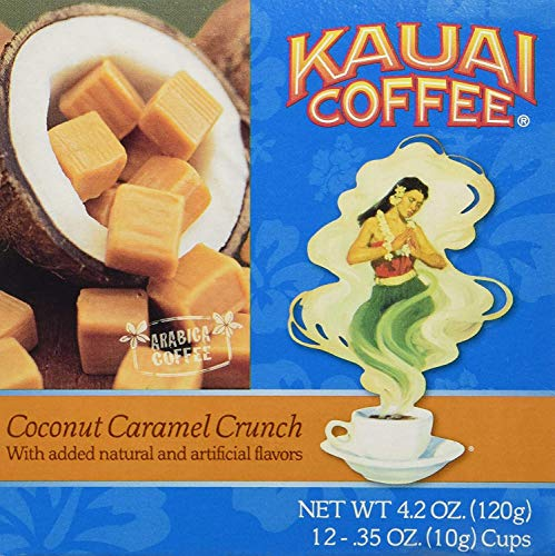 (Kauai Coffee Coconut Caramel Crunch Single-Serve Cups, 12 Count)