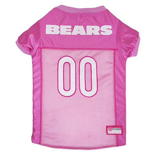 NFL CHI-4019-LG Chicago Bears Pet Pink Jersey, (Chi Bears)