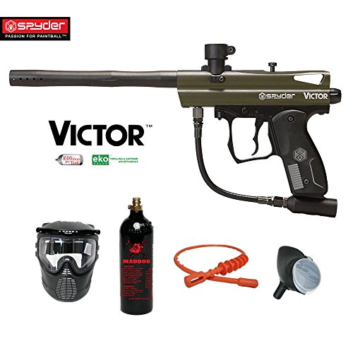 MAddog Spyder Victor Bronze Paintball Gun Package - Olive Green