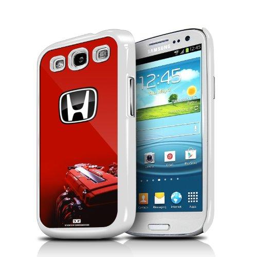 Honda i-VTEC Engine Red Samsung Galaxy S3 White Cell Phone Case
