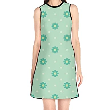 Floral Dress Summer Dresses Green Flora Womens Elegant Dress Formal
