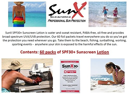 Sunx30 Sunscreen Lotion Packets – 60
