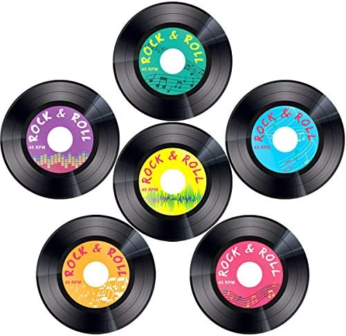 Record Cutouts 1950s Decoration Inches product image