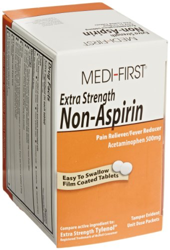 Extra Strength Non-Aspirin Pain Reliever Comparable to Extra Strength Tylenol - 100 per Box