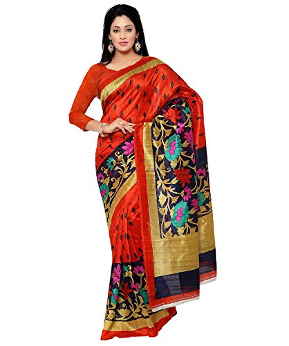 Binny Creation Womens Cotton Silk Printed Saree with blouse piece (binny_ws_04)
