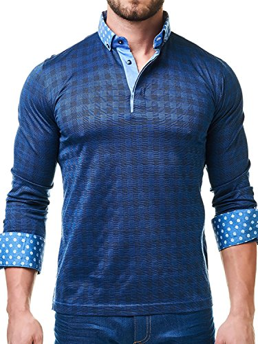 Maceoo Mens Designer Polo - Stylish & Trendy Sport Shirts - Navy Square Tailored - Australia Usps To Shipping Cost