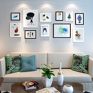 Bilderrahmen* Das Wohnzimmer In Einem Skandinavischen Stil Eingerichteten  Restaurant Ist Der Kopf Des Bettes Wandmalerei