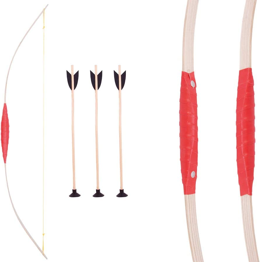 Holzspielerei 73706-80 with 3/Suction Cup Arrows /Childrens Bow 80/cm