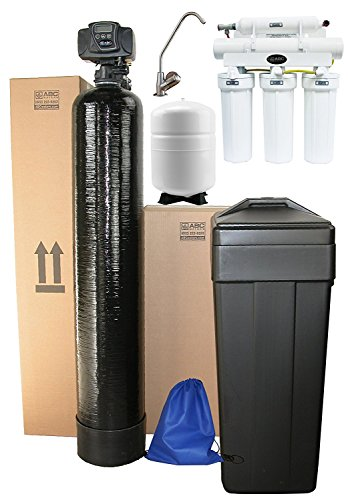 ABCwaters built Fleck 5600sxt 48,000 WATER SOFTENER + 5 Stage Reverse Osmosis Drinking Water Filter System 75gpd – Complete Package 8% Resin