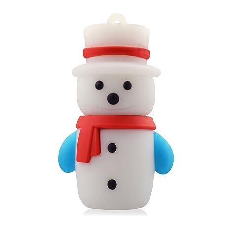 818-Shop no4400020002 Memorias USB muñeco de nieve invierno 3d (2 ...