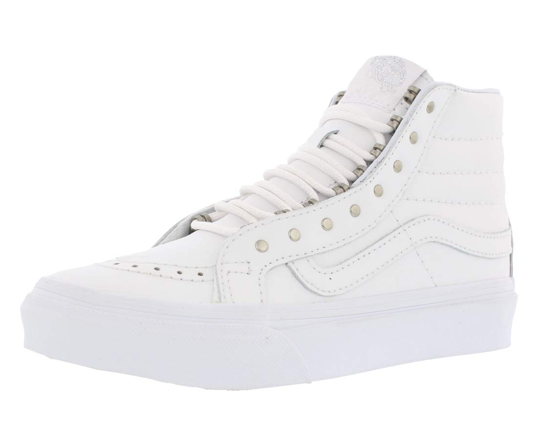 c3852d46c4 Galleon - Vans SK8-Hi Slim (RIVETS) Mens Skateboarding-shoes VN-018IJV0 4 -  (Rivets) Antique Silver True White