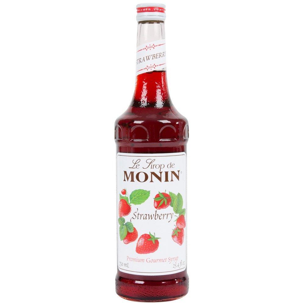 Monin Strawberry Syrup 750ml (25.4oz)