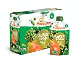 Happy Tot Organic Stage 4 Super Foods Pears Peas & Green Beans + Super Chia, 4.22 Ounce Pouch (Pack of 16) (Packaging May Vary) Non-GMO Gluten Free 3g of Fiber Excellent source of vitamins A & C