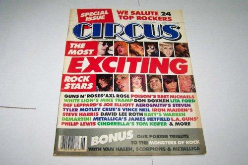 - Circus Rock Magazine 31 August 1988 Guns n Roses Axl Slash Motley Crus Don Dokken Poison Aerosmith Metallica Van Halen Cinderella Iron Maiden LA Scorpions (Circus Magazine)