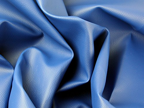 Fire Retardant Leathercloth Faux Leather Pleather Fabric Royal Blue - per metre