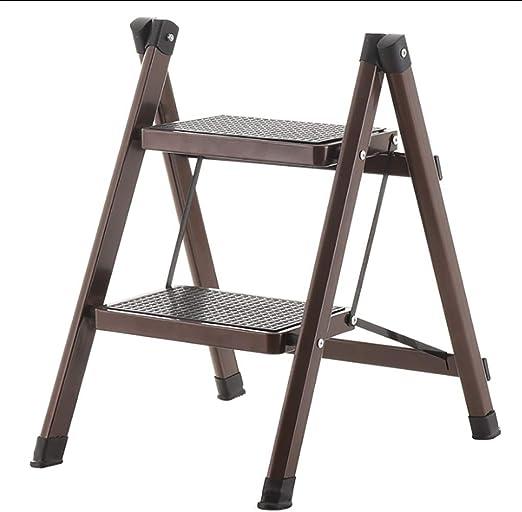 LLTD Metal Plegable Escaleras de Seguridad de 2 peldaños Ascendentes Taburetes de Cocina portátiles Inicio Escalera de Tijera Herramientas de jardín: Amazon.es: Hogar