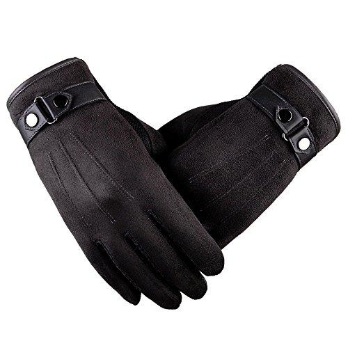 2018 Lastest,WUAI Clearance Men's Motorbiker Cycling Warm Ski Snow Snowboard Fashion Winter Leather Gloves(Gray,Free Size)