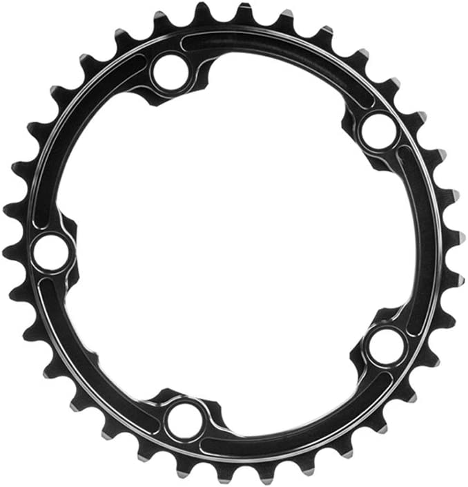 Absolute Black Training Oval 110 BCD 2X Chainring Training 110mm 34t 4b 2x Gy