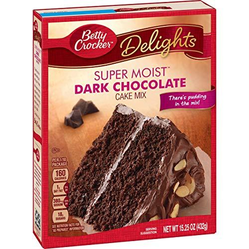 Cake Dark Chocolate (General Mills Betty Crocker Dark Chocolate Cake, 15.25 oz.)