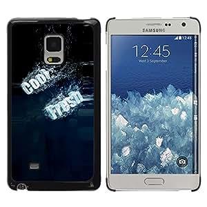 Shell-Star Arte & diseño plástico duro Fundas Cover Cubre Hard Case Cover para Samsung Galaxy Mega 5.8 / i9150 / i9152 ( Cool Fresh Typography )