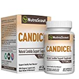 Candicel Candida Cleanse Supplement With Caprylic Acid, Neem, Pau D'Arco, Oregano, Grapeseed, Black