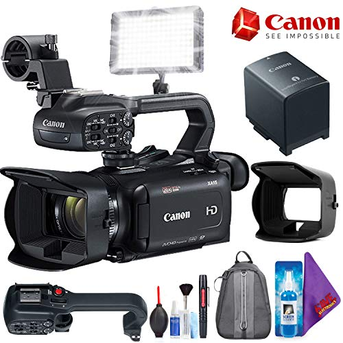Canon XA15 Compact Full HD Camcorder with SDI, HDMI, and Composite Output + Pro Accessories Bundle