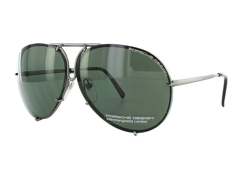 d0d914a18fe5 Porsche Design Titanium Sunglasses P8478 C 69mm Grey Matte - Unisex - Extra  Lenses at Amazon Men s Clothing store