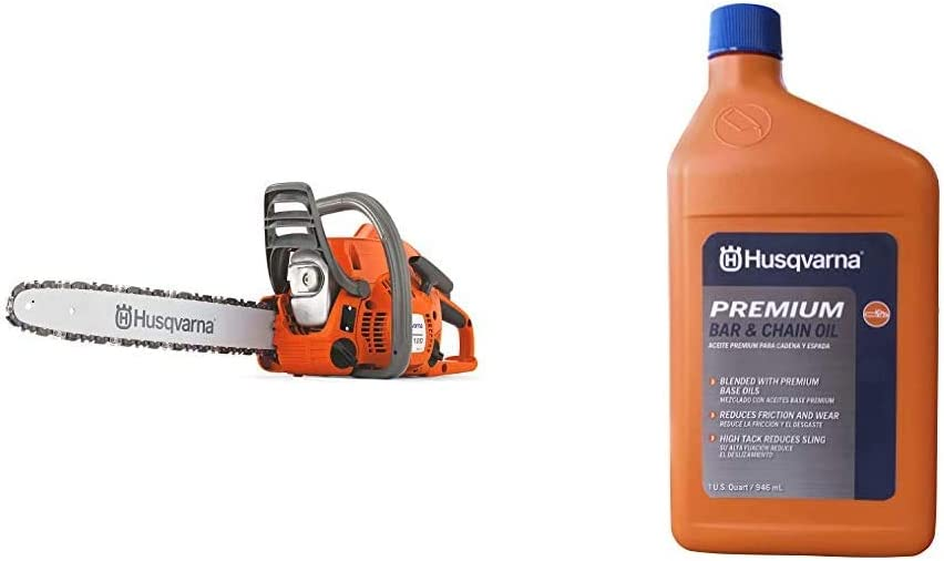 Husqvarna 120 Mark II 16 in 6.4-Ounce Orange/Gray & 610000156 50:1 ...