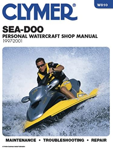 sea doo water vehicles shop manual 1997 2001 clymer personal rh amazon com 1996 seadoo gsx owners manual 1996 seadoo gtx parts manual