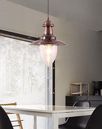 MSTAR Industrial Pendant Lighting Fishman Style Ceiling Light Fixture Farmhouse Pendant Light for Kitchen Café Bar (Antique Copper) by MStar