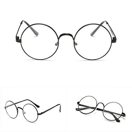 7a5e0e20c9 Image Unavailable. Image not available for. Color  YDZN Retro Big Round  Eyeglasses