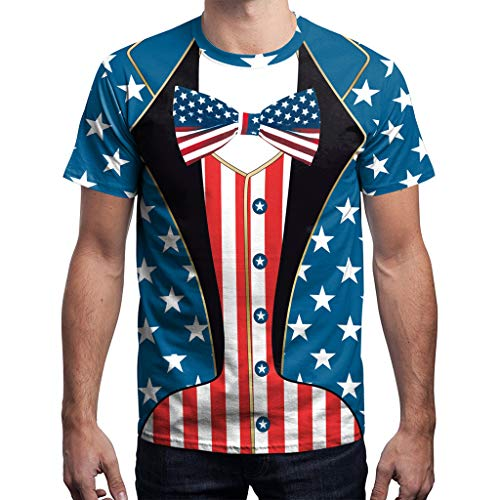 Chiccc Fashion T Shirt Beach Yoga Top New USA Flag T-shirt Men Sexy 3d T-shirt Print Striped T Shirt Summer Tops Tees