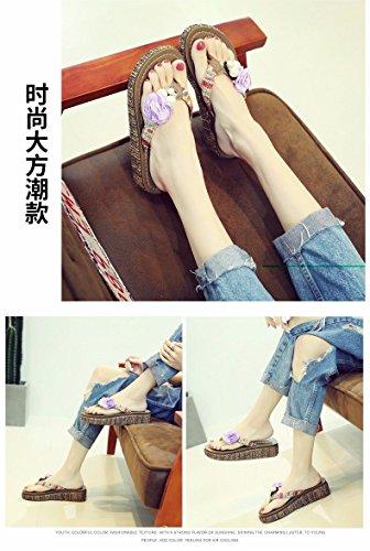 estate LIUXINDA XZ Summer moda Viola da flop Nuovi scarpe calzature di Il spiaggia flip italiana pantofole infradito Donna prodotti zprp7qn4