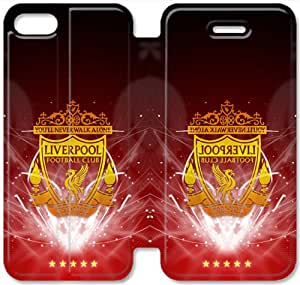 iPhone 5 5S SE Cell Phone Case Liverpool FC Colorful Printing Leather Flip Case Cover 3ERT489578