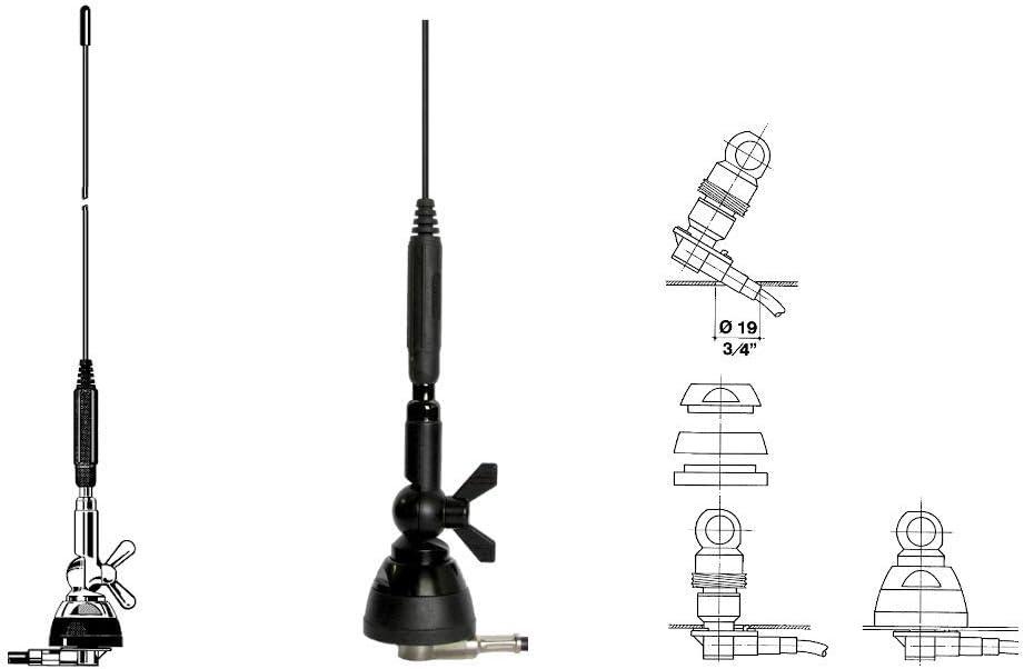 SIRIO SDB 270 Black Antena Dual Band VHF/UHFMHz ...