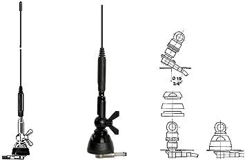 SIRIO SDB 270 Black Antena Dual Band VHF/UHFMHz: Amazon.es ...