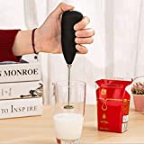 Clothsfab Milk Frother Electric Foam Maker Classic Sleek Design Hand Blender Mixer Froth Whisker Latte Maker for Milk,Coffee,Egg Beater,Juice,Cafe Latte,Espresso,Cappuccino,Lassi,Salad(Milk frother)