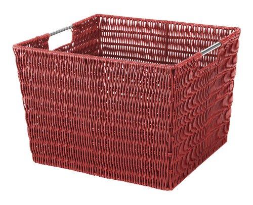 Whitmor Rattique Storage Tote Red