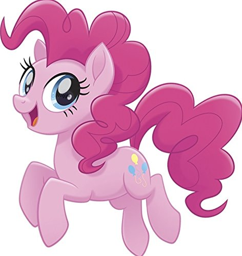 (8 Inch Pinkie Pie Wall Decal Sticker Pinky MLP My Little Pegaus Pony The Movie Removable Peel Self Stick Adhesive Vinyl Decorative Art Kids Room Home Decor Girl Bedroom Nursery 7 by 8 inches tall)