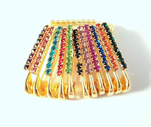 Sarvam Decorative Safety Pins Saree Pins Brooch One Side of Safety