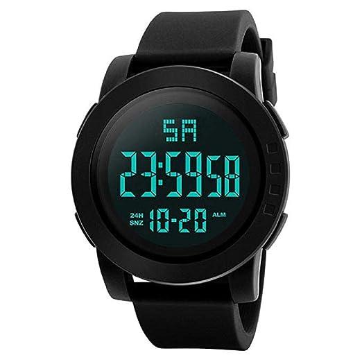 Mens Digital Relojes Deportivos Cara Grande Pantalla LED Impermeable Relojes Militares Casual Impermeable Luminoso Simple Ejército Reloj Cronómetro Alarma ...