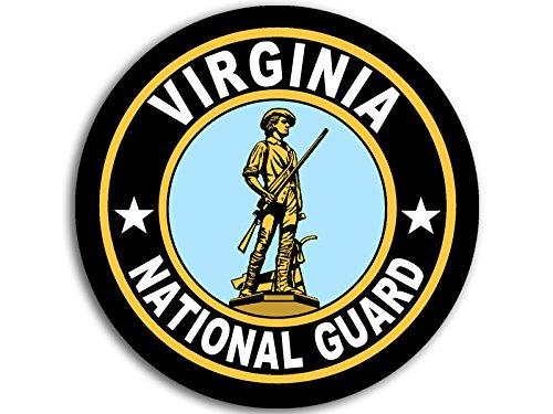 (American Vinyl Round Virginia National Guard Seal Sticker (Logo Insignia Army) )