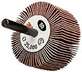 3M Flap Wheel Type 83 244D, Shaft, 2-1/2'' Diameter x 1'' Width, 80 Grit (Pack of 10)