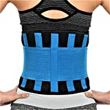 RiptGear Back Brace for Men and Women - Back Pain Relief Support for Lower Back Pain and Hip Pain - Lumbar Severe Back Pain Relief for Herniated Disc and Sciatica (Blue, Large - 32'' to 35'')