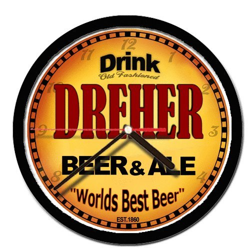 DREHER beer and ale cerveza wall clock