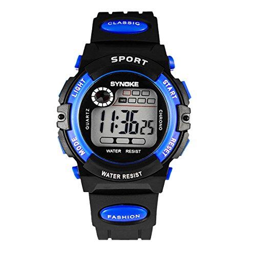 Children Multifunction Luminous Alarm Day Date Plated Wrist Watch